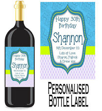 Personalised Bottle Label Birthday Gift Favour Wine, Spirit Or Champagne BDBL 7