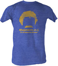 Magnum P.I. PI All About the 'Stache Blue Adult T-Shirt