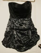 New Jrs 7 13 Ruby Rox Black Grey Strapless HOMECOMING Prom Cocktail Party DRESS