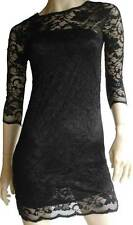 Dress Evening Party Black Lace Bodycon Mini Cocktail Races Size 10 12 14 Women