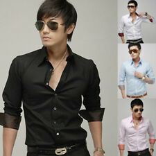 NWT Mens Casual Slim Fit Stylish Dress Shirts 4Colours  4Size h20