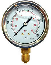 Pressure Gauge Glycerine Filled Bottom Connection 63mmØ