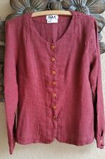 FLAX Transitional LINEN Curved Fitting Shirt Jacket S, M, L, 3G NEW