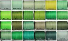 10yds~~3mm Green Grosgrain Ribbon 23 Colours U Pick