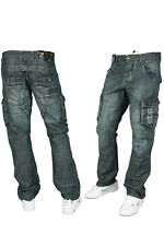 MENS ENZO EZ22 MID STONE WASH CLASSIC FIT JEANS *REDUCED SALE PRICE* ALL SIZES