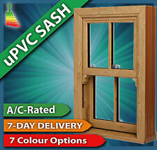 Woodgrain uPVC Sliding Sash Windows - Various Sizes #25