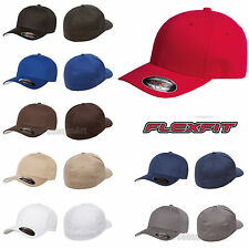FLEXFIT Mens V Flex Twill Cap 6-Panel mid-profile Fitted Hat S/M L/XL 5001