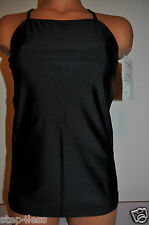 Nwt Bal togs Adult size medium, or large- black nylon-lycra camisole TOP-#TLTOP3