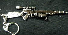 COLLECTOR'S REPLICA CROSS FIRE MACHINE GUN SNIPER RIFLE SOLID METAL KEYRING UK