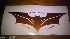 BATMAN symbol Imported From GOTHAM Logo vinyl decal color & size options