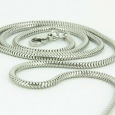 Bulk 3mm Snake Chain Necklace Silver Plated Fit Pendant/ NonScrew European Beads