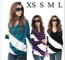 Fashion Korea Women's Batwing Casual T-shirt Stripe Blouse Tops 4 Colors 2086