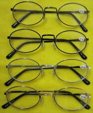 (R122) 3 Pairs of Metal Frame Reading Glasses +1.0+1.5+2.0+2.5+3.0+3.5+4