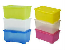 IKEA 3 box W/ lid pen pencil holder stackable storage jar tin container GLIS NEW