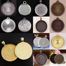 Tibet Silver Golden Copper Bronze Coin Picture Photo Frame Round Pendant Charms