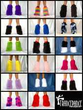 Cyber Neon Rave Raver Fluffies Fluffy Boot Covers Legwarmers