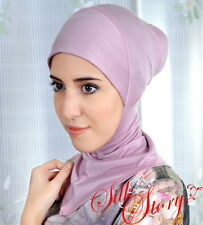 Very Useful 1Pc Slip on Cotton Lycra Scarf Sarong  Hijab Neck Cover Multicolor
