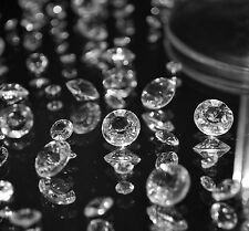 TOP QUALITY CLEAR WEDDING TABLE DIAMOND CRYSTALS SCATTER DECORATION CONFETTI