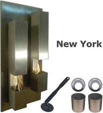 New Design Fireplace NEW YORK Bio Ethanol Gel Stainless Steel