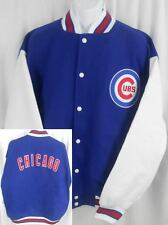 Chicago Cubs MLB Wool / Polyester Majestic Bomber Jacket Big & Tall Sizes