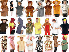 Children's Kids Boys Girls Zoo Farm Animal Tabard Fancy Dress Up Costume Outfit