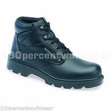 Delta Plus Redwood LH626 Safety Black Smooth Leather Work Boots Shoes Steel Toe