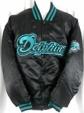 Miami Dolphins NFL Team Apparel Embroidered Black Satin Jacket Big & Tall Sizes
