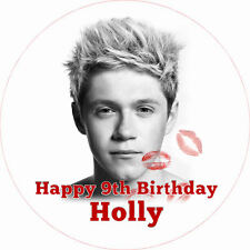 """Niall One Direction 7.5"""" ROUND Birthday Cake Topper Rice Paper/Icing 24HR POST!"""