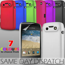 HARD BACK CASE SKIN COVER & SCREEN PROTECTOR FOR BLACKBERRY CURVE 9380