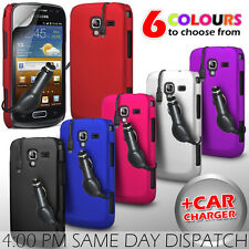 HARD BACK PROTECTIVE CASE COVER, CAR CHARGER & SP FOR SAMSUNG GALAXY ACE 2 I8160