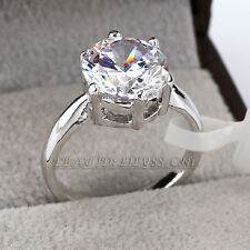 A1-R017 Solitaire 3.6cts Engagement Wedding Ring 18KGP Swarovski Crystal