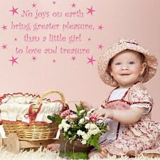 Love and Treasure Girls Nursery Wall Quote Stickers Decal Mural Transfer Stencil