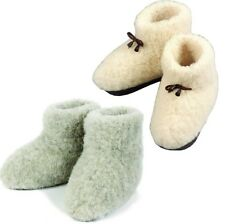 "COZY FOOT - Womens, Mens 100% Pure Sheep Wool sheepskin ""MERINOS"" Slipper Boots"