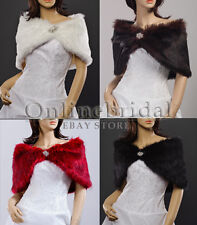 Faux fur bridal wedding evening shoulder capes/wraps/shawls- 5 sizes & 5 colours