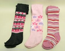 BABY GIRLS TIGHTS PATTERNED VARIOUS FLORAL STRIPED LOVE HEART 0 6 12 18 24
