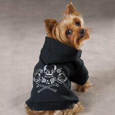 Zack & Zoey Fleece Skull & Crossbone Dog Pet Hoodie Puppy Pullover Sweatshirt