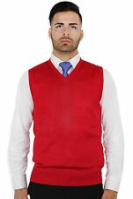 MEN'S SOLID COLOR SWEATER VEST