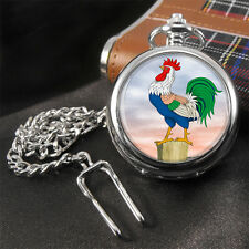 Cockerel Rooster Pocket Watch