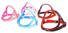 Real SOFT LEATHER DOG PUPPY HARNESS COLOUR PADDED Handmade