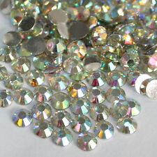 1000-10000pcs 2mm-5mm 14 Facets Resin Rhinestone Flatback Crystal AB Crystal