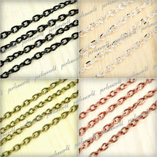 Wow!! DIY 5x3.3mm 4m/12m/20m Twisted Curb Unfinished Chains wholesale PWCH0123