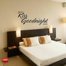 """""""Always kiss me goodnight"""" Quote Wall Art Sticker / Wall Decal Vinyl"""