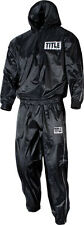 TITLE Pro Hooded Sauna Suit MMA Gear Wrestling Equipment Boxing Workout Supplies