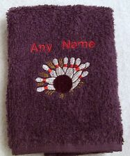 Personalised Ten Pin Bowling Hand Towel Any Name 100% Cotton Embroidered