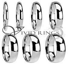 High Polish Stainless Steel Wedding Band Ring Men & Woman Size 4 to 14.5