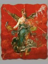 Winged Victory Fresco (Detail) from Pompeii, Fresco Reproduction on Plaster