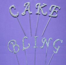 DIAMANTE DIAMONTE NUMBERS NUMERALS FOR BIRTHDAY WEDDING CAKES AND DECORATIONS