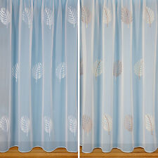 TOP QUALITY EMBROIDERED VOILE CURTAIN - PRICE PER METRE - CHEAP P&P - NOT NET