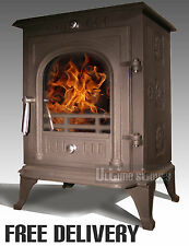 Ultimo Stoves LUMINUS Multi-Fuel Efficient Wood Burning Stove 8kW FREE DELIVERY