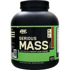 OPTIMUM NUTRITION Serious Mass in 6 -12 lbs better quality saves buy 1 - 2